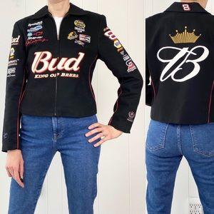 Y2K Dale Earnhardt Jr. Budweiser Zip Front jacket